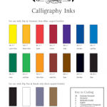 winsor_and_newton calligraphy inks chart