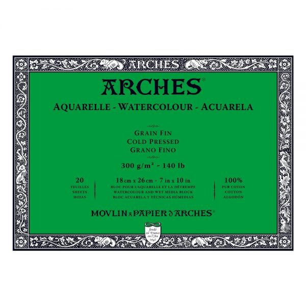 Arches Watercolour Pads Choose your Size and Grade