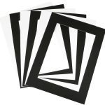 Precut cardboard mounts