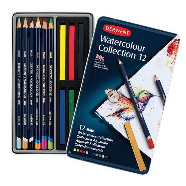 Derwent Watercolour Collection 12 Tin