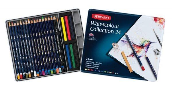 Derwent Watercolour Collection 24 Tin
