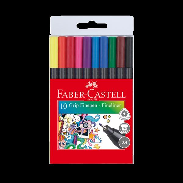 Faber Grip Fine Pen 10